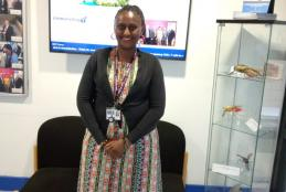 Photo: Brenda Makena at the lab in University of Glasgow's Wellcome Centre for Molecular Parasitology.