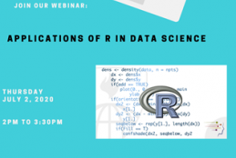Webinar poster: Applications of R software in data science