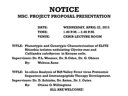 Msc Project Proposal Presentations  Centre For Biotechnology